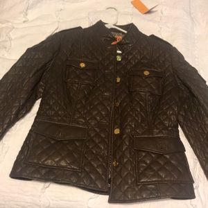 Leather Tory Burch jacket
